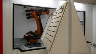 CNC robot driven by ALPHACAM cuts high